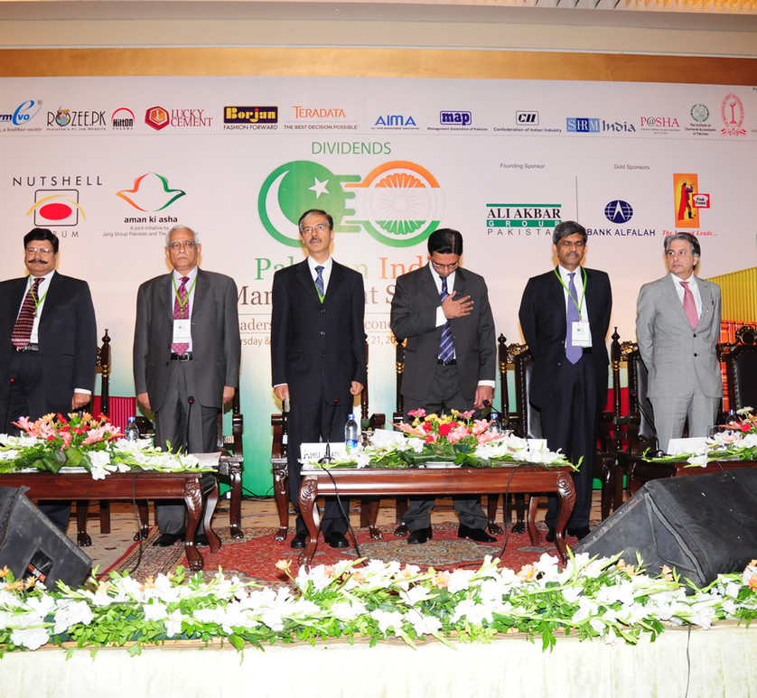 Speakers from India and Pakistan at inau