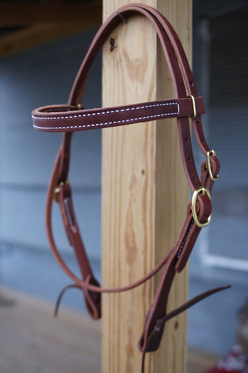 Browband Headstall - Gold Buckles  Purchase In Store Only