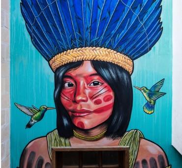 The Stunning Aztec-Inspired Art Of Rilke Guillén