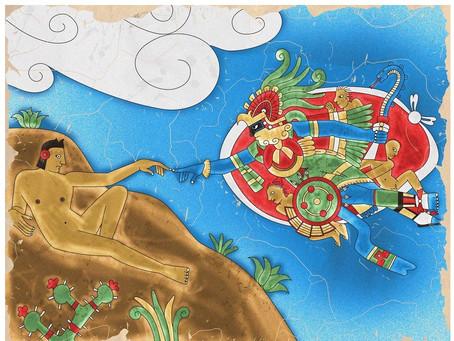 Emmanuel Valtierra's Stunning Art: The Aztecs Meet The 'Avengers'...And Michelangelo, Too!