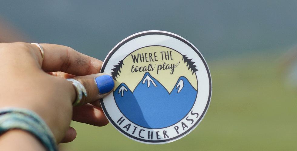 Hatcher Pass Locals Sticker