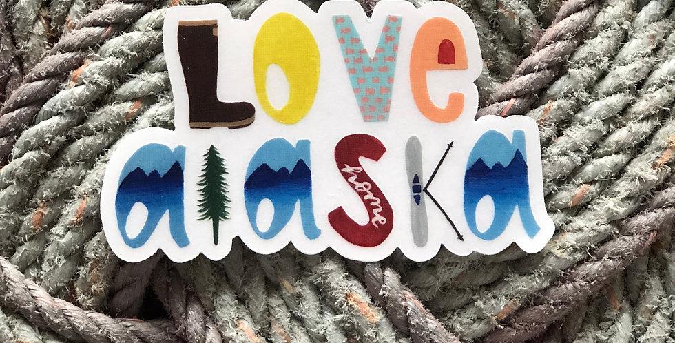 Love Alaska Sticker