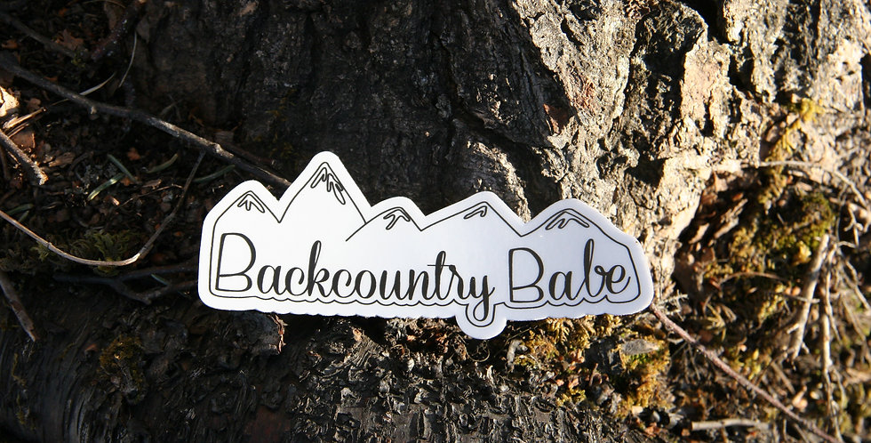Backcountry Babe Sticker