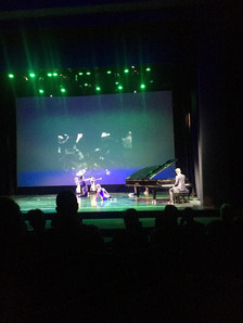 Performing one of my Compositions at Theatr Clwyd