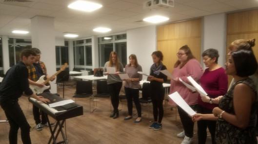 Rehearsing UWE Sound of Soul