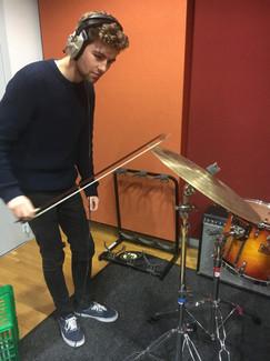 Recording cymbal swells