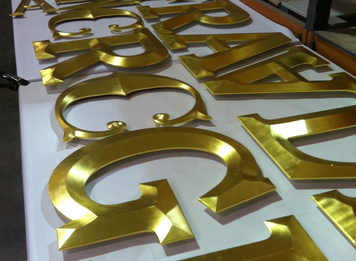 These letters were produced for Raglan Road Irish Pub in Downtown Disney, Orlando Florida.