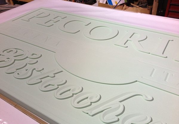 After several hours on the router and a few tooling changes, the foam blank takes shape.