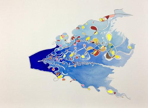 小約翰·西蒙(John F.Simon),藍色擴展,於擴展系列,2012年