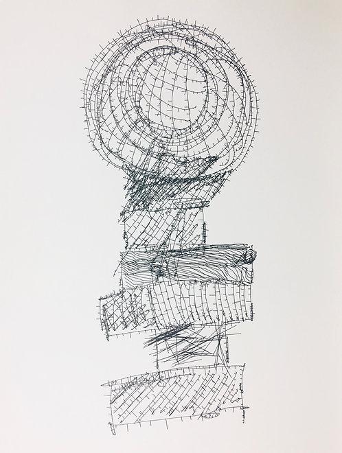 小約翰·西蒙(John F.Simon),《物聯網》系列中的Stack,1994年