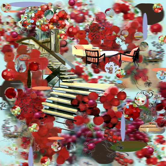 Mary Ann Strandell, Cherry Stairs III, 2010-2017