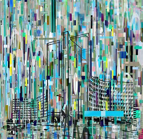 瑪麗·安·斯特蘭德爾(Mary Ann Strandell),《過境空間》 /聯合國教科文組織巴黎一世,雙聯畫,2019年