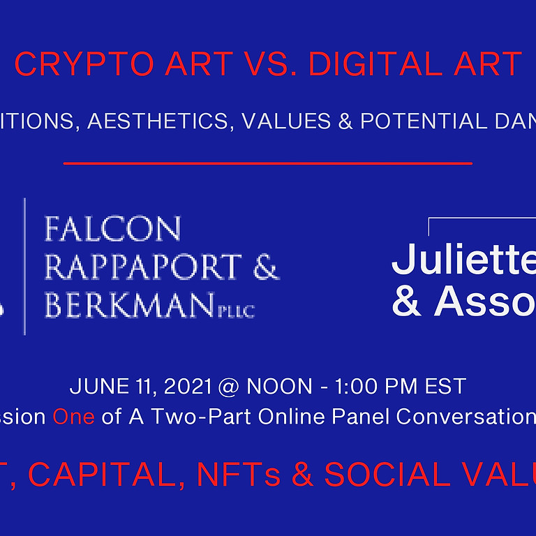 Art, Capital, NFTs & Social Values - A panel conversation in two sessions [Session One]