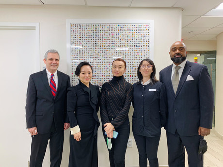 [From left to right]  Dr. Khaled Zeitoun, MD, the Reproductive Endocrinologist GFG New York, Annie Liu, CEO GFG New York, and Juliette Yuan, Founder & Director JY&A New York.
