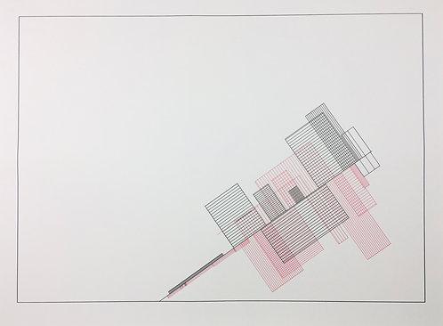 小約翰·西蒙(John F.Simon),《紅色平衡》,《色彩平衡》系列,1997年