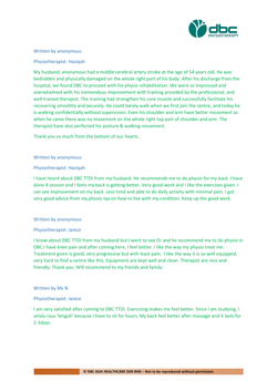 Testimonies from DBC patients 2020-26
