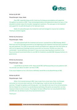 Testimonies from DBC patients 2020-06