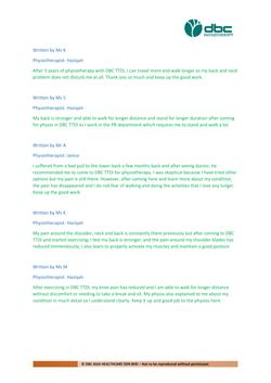 Testimonies from DBC patients 2020-27
