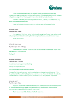 Testimonies from DBC patients 2020-08