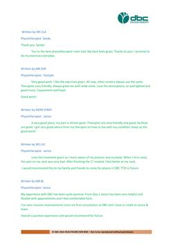 Testimonies from DBC patients 2020-25