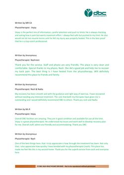 Testimonies from DBC patients 2020-12