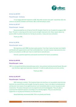 Testimonies from DBC patients 2020-24