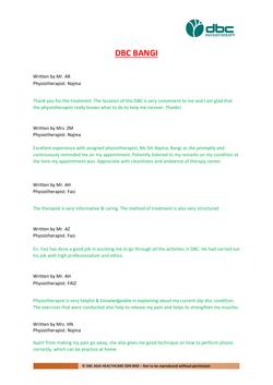 Testimonies from DBC patients 2020-40