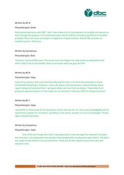 Testimonies from DBC patients 2020-17