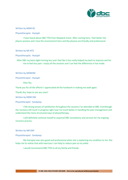 Testimonies from DBC patients 2020-20