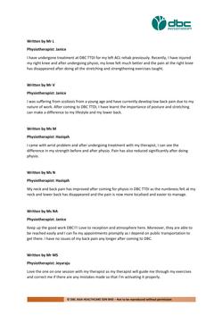 Testimonies from DBC patients 2020-29
