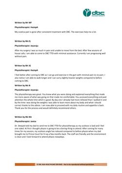 Testimonies from DBC patients 2020-31