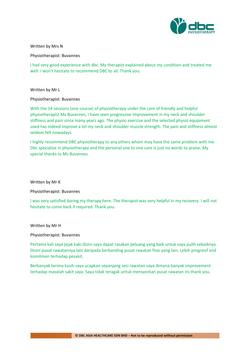 Testimonies from DBC patients 2020-36