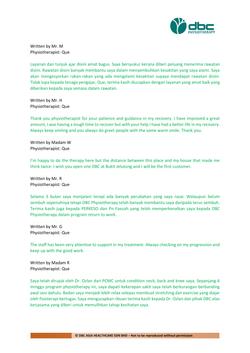 Testimonies from DBC patients 2020-39