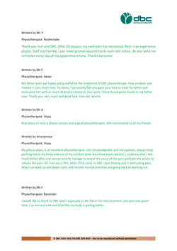 Testimonies from DBC patients 2020-16