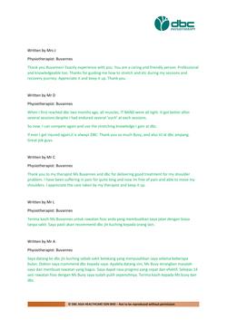Testimonies from DBC patients 2020-37