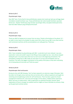 Testimonies from DBC patients 2020-14