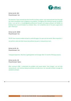 Testimonies from DBC patients 2020-41