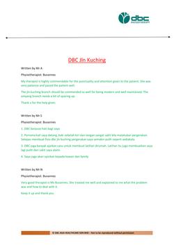 Testimonies from DBC patients 2020-35