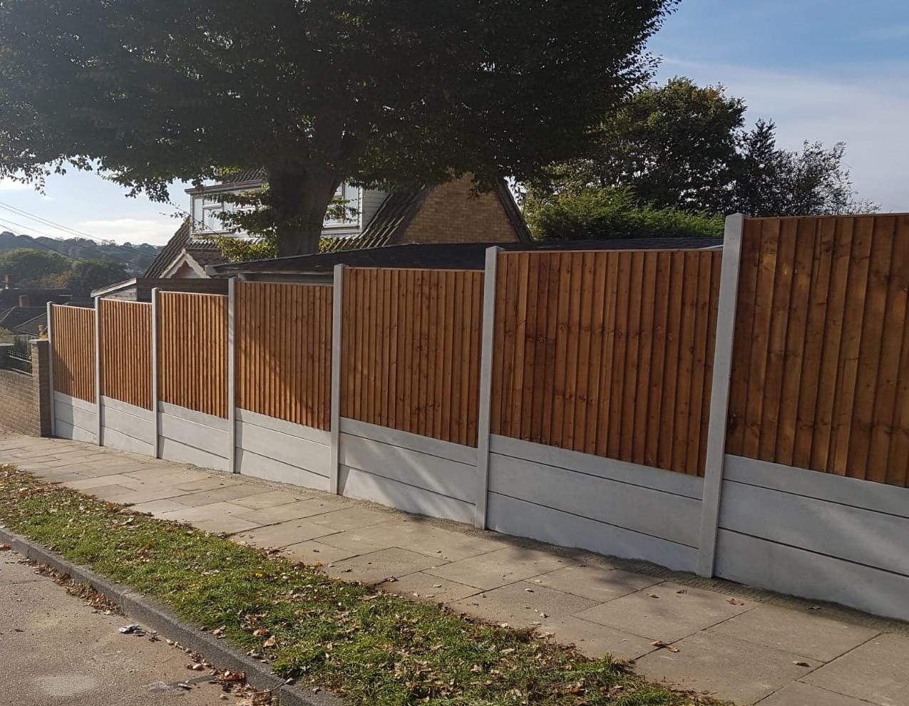Triple Gravel boarded fencing
