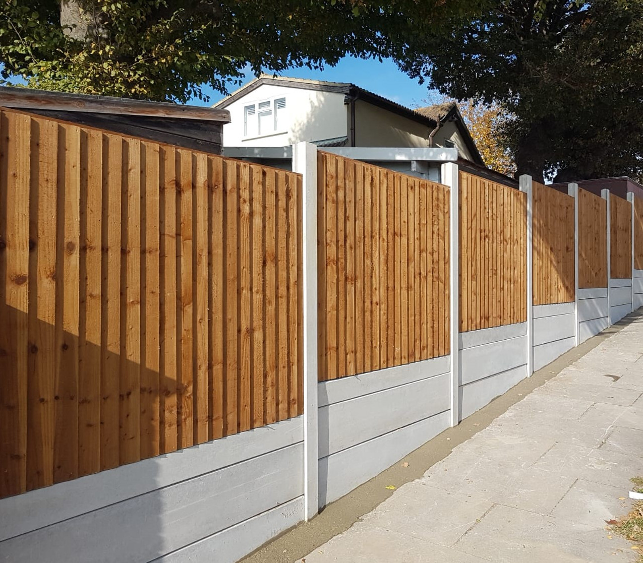 Triple gravel boards with Feather Edge p