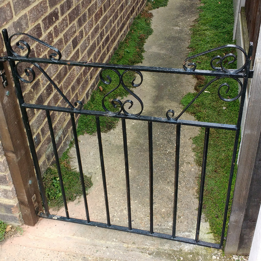 New wall plant fixing existing metal gate