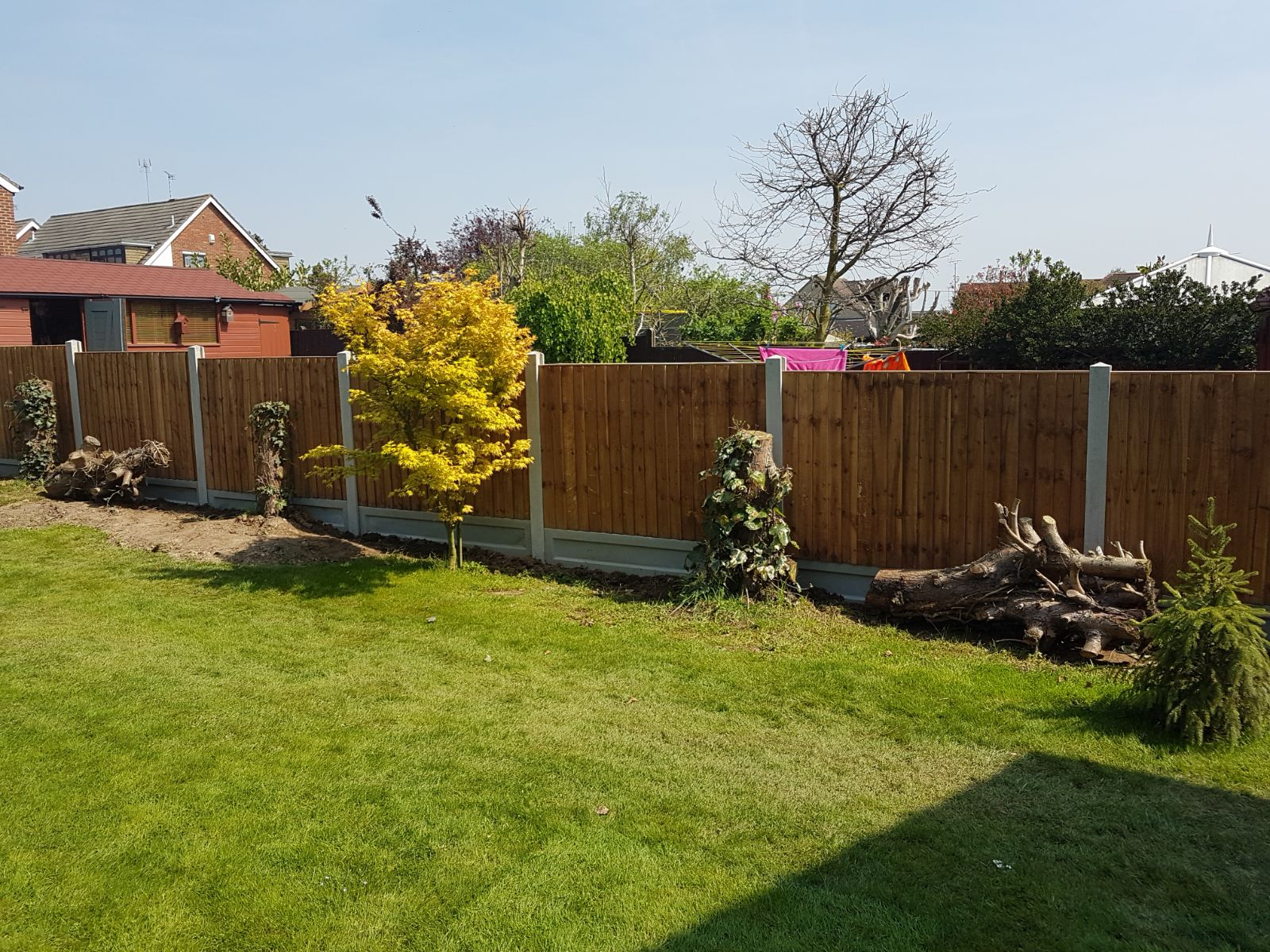 Completed Feather Edge Fence