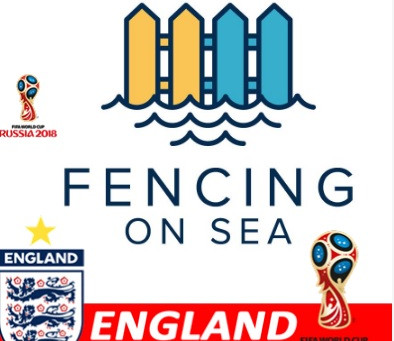 Fencing on Sea Supporting England during the World Cup