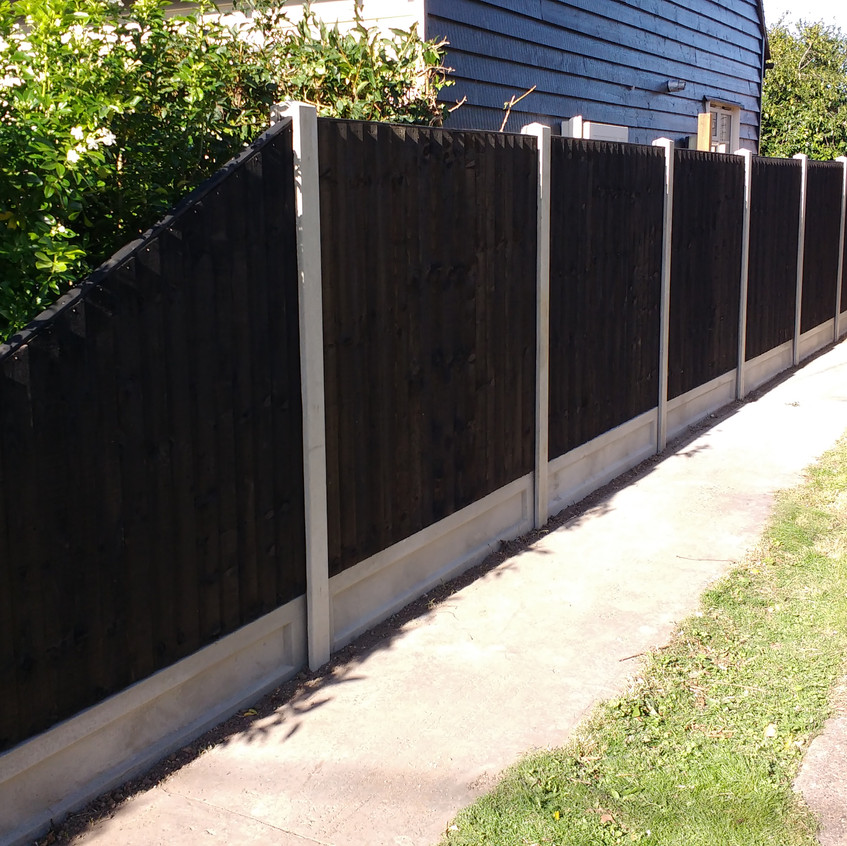 Black Feather edge panels with Sloper