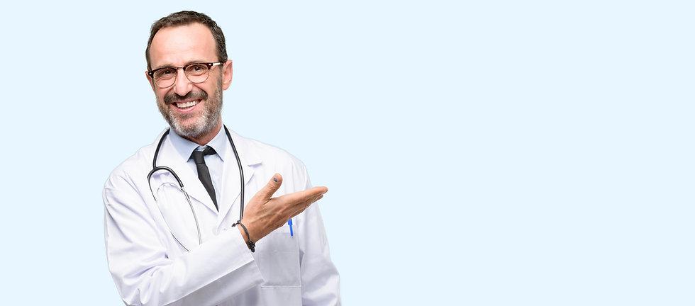 Doctor senior man, medical professional