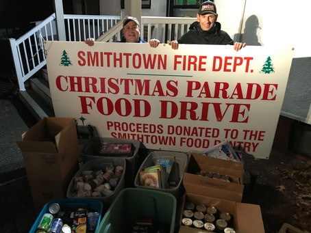 Food and Toys Collected for the Holidays