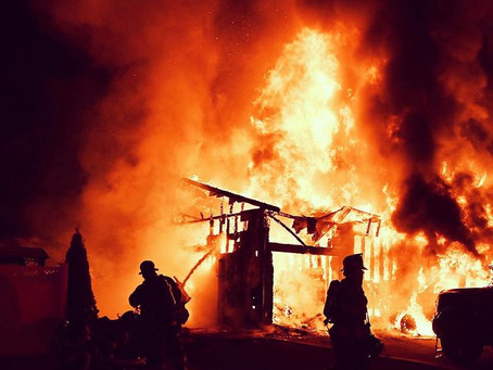 Working Fire on Sandalwood Drive