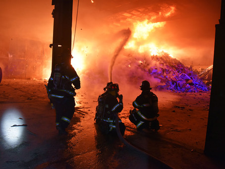 Saturday Night Turns Into Sunday Morning at a Commercial Fire in Kings Park