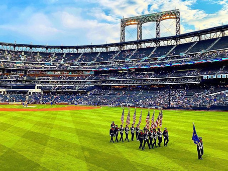 SFD Provides Mets Color Guard