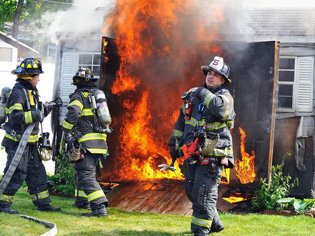 Shed Fire on Plymouth Blvd